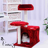 Natural sisal rope and soft plush cat tree