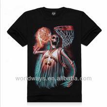 Fashion basketball printed t-shirt wholesale and silkscreen printing