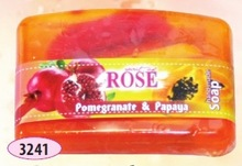Hand made glycerin soap 60 gr.- Pomegranate and papaya