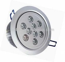 9W sliver case led ceiling lamp