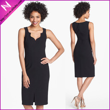 YYH-LA091314#Slimming Black Dresses for Office Ladies