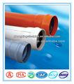 plástico pvc tubos e conexões de água da tubulação do pvc 1 polegadas de diâmetro da tubulação do pvc