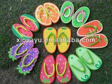 2014 new design fruit popular flip flop slipperschildren kids flip flop slippers girls flip flop slippers