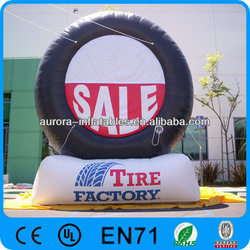 Hot sales giant inflatable tire for advertising promotion