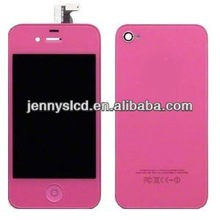 Hot selling cell phone original colored LCD for iphone 4 pink