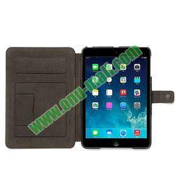 Notebook Style Genuine Leather Case for iPad Mini Retina