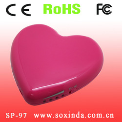 Heart shape universal portable cell phone charger 5000mah