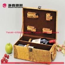 true fabrications faux leather wine box single bottle wine holder