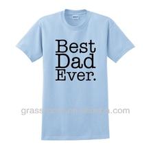 ET0005 Best Dad Ever Children Blue Tshirt Design OEM Wholesale Manufacturer
