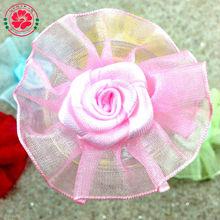 1-437 Handmade organza rose party decoration