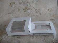 folding food grade OEM logo printing clear plastic cake box/cake box design/paper cake box