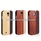 Solid Wood+PC+PU Combo Flip Case For Samsung Galaxy S4 s4 cover