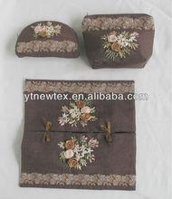 3d flower sachet bag,tissue box cover