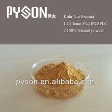 PYSON supplyer natural Kola Nut Extract 10%Caffeine