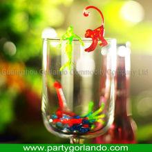 Top grade creative cocktail plastic drink monkeys