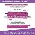 Vitamina b complexo& injeção( caixa de embalagem)