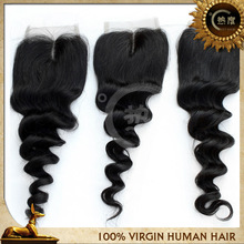 2013 new fashion high quality Qingdao factory lace front middle parting cheap lace closure