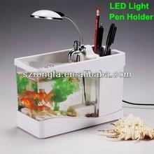 Fascinating gift desktop small plastic aquarium