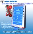 Gsm sms ar- condicionado controlador rtu 5014 remoto operar o condicionador de ar e recarregável