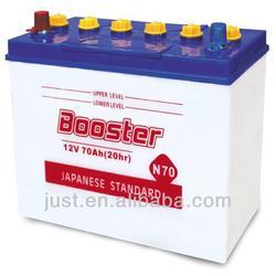 JIS Standard Dry Cell Automotive Battery 12V70Ah