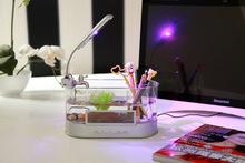 New arrival Aquarium tank LED Clock Light desktop calendar usb fish tank