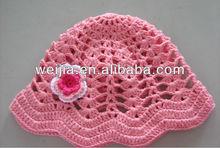 Custom cotton crochet baby cap