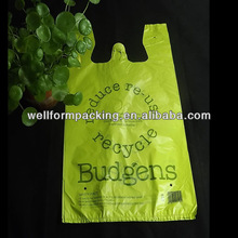 China Manufacture Printed Shopping T-shirt retail bags for grocery
