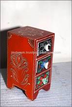 3-ceramic Drawers Mini Cabinet