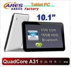 best selling 10 inch oem tablet allwinner quad core 2gb/16gb.1024*600