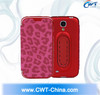CWT 2 in 1 leather mobile phone cover cellphone cases for Samsung s4