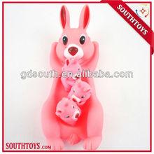 natural pet rubber rabbit toy