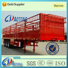 China NEW 2/3 Axles 30ton-60ton Store House Bar Fence Truck Cargo Semi Trailer