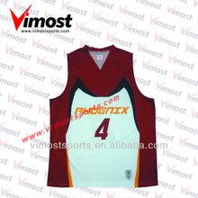 custom sublimated basketball wear/jersey