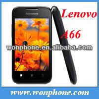 Original Lenovo A66 phone MTK6575 1GHZ CPU 3.5 inch screen Cheap phone 2.0MP camera GPS WIFI Bluetooth