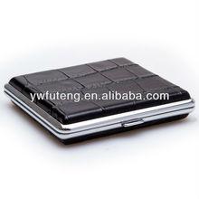 Wholesale Stylish Metal + Artificial Leather Cigarette Case for E-Cigarette