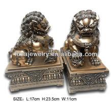 Brass Color Feng Shui Foo Dogs