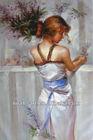 Beauty Girl Oil Painting in white Dress