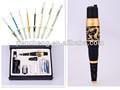 Deluxe dragão de ouro máquina de tatuagem rotativo& lábio tatuagem/tatuagem sobrancelha/delineador kit máquina de tatuagem