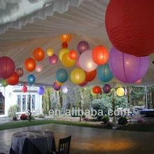 regular ribbed indoor hanging paper lanterns room decoration