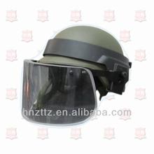 Police bulletproof anti riot helmet with visor
