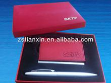 promoting business card holder & pen gift set