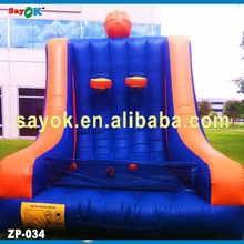 2014 Newest Design Attactive Unique inflatable basketball hoop