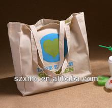 Cheap waterproof cotton canvas linen shopping bag good sale fancy tote bag