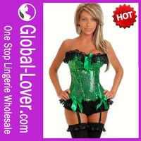 No MOQ Wholesale Green Corset Dress