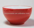 Inner white outside red ceramic bowl for promotional