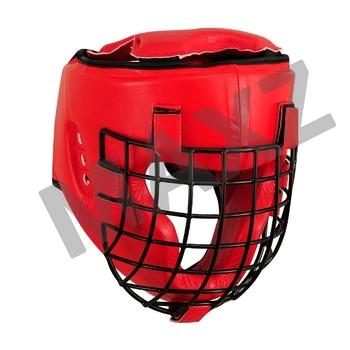 boxing head guard grilled helmet