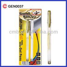 METALLIC GEL PEN GOLD AND SLIVER COLOR