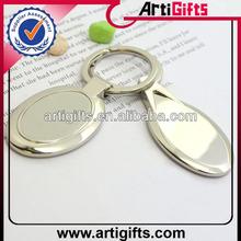 2013 Custom design blank oval metal keychain