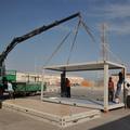 qualificada estrutura de aço prefabricate recipiente casa bungalow de escritório