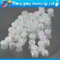 Blanco piedra de ópalo/ronda de ópalo sintético/joyería de ópalo